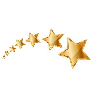 Gold Stars Vector On Vectorstock Seni Desain Banner Bintang