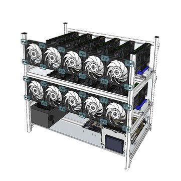 Aluminum Open Air Mining Rig Stackable Frame Case With 10 Led Fans For 12 Gpu Eth Computer Components From Computer Networking On Banggood Com Led Green Led Ebay