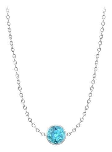 73be73fba 66% Off Designer By the yard necklace with blue topaz in 14K white gold one  carat tgw. Free shipping and guaranteed authenticity on By the yard necklace  ...