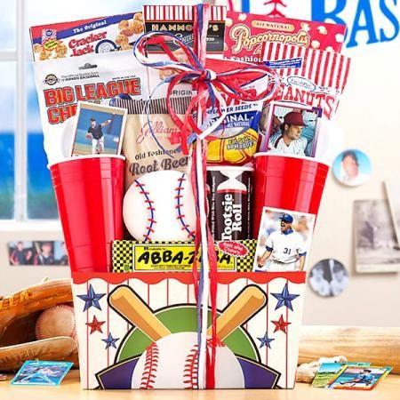 Ballpark Favorites Gift Basket | Corporate gifts, Gifts ...  |Baseball Sympathy Gifts
