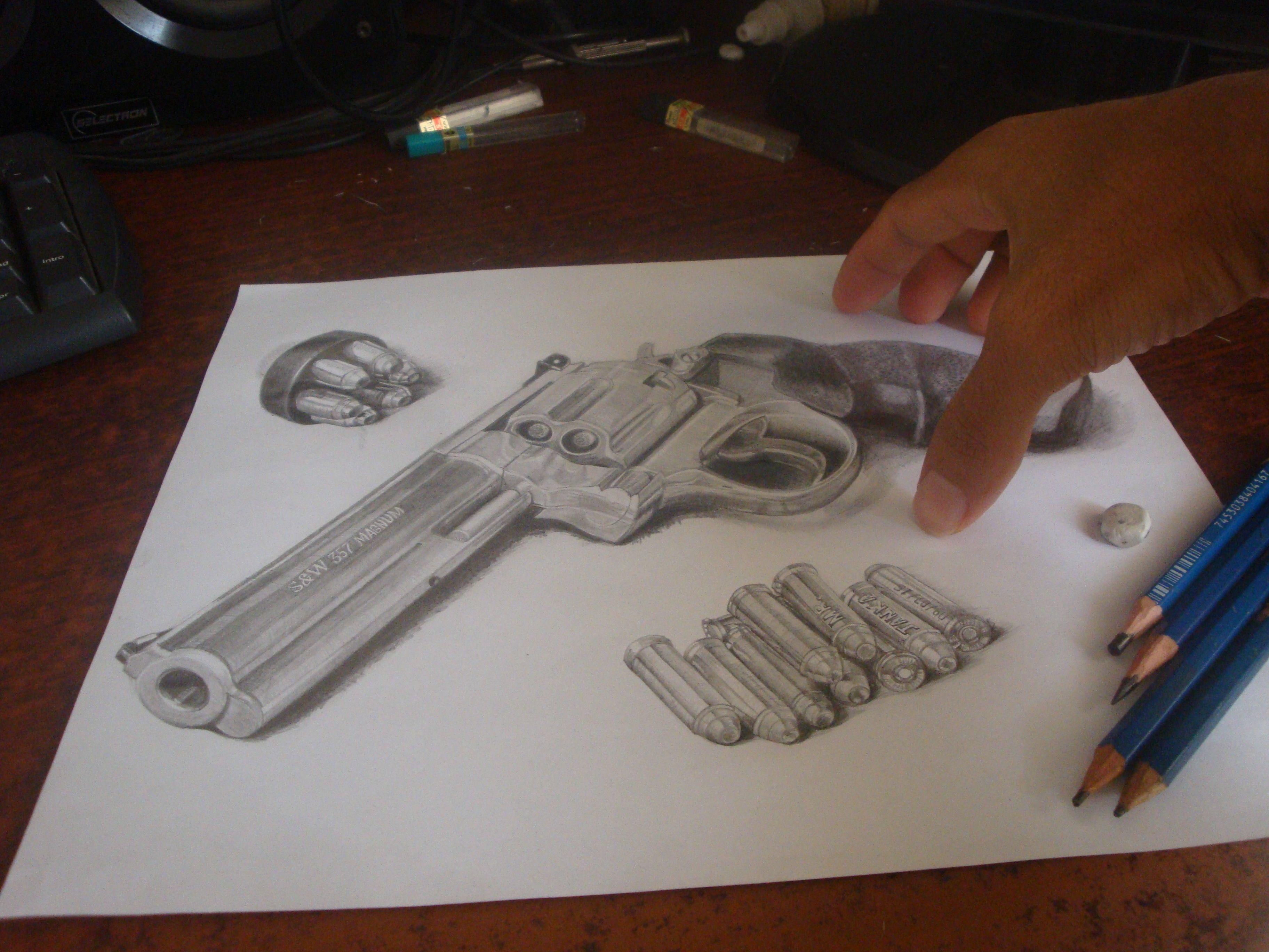 Smith & Wesson 357 Magnum Draw 3D | Dibujos | Pinterest | Dibujo