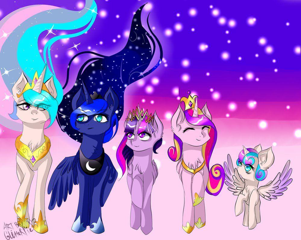 Mlp All Five Princesses My Little Pony Wallpaper Little Pony
