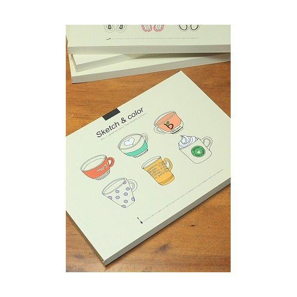 Album da disegno Kawaii 'tazzine caffè'