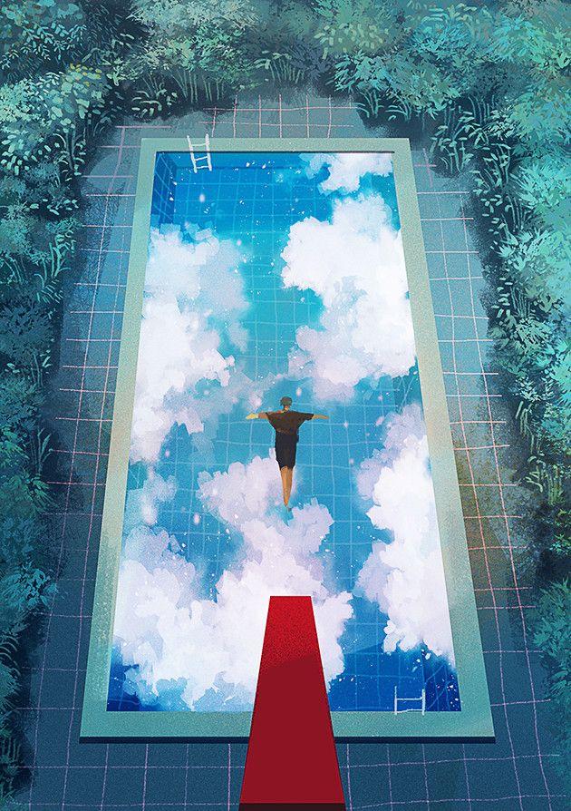 Redlipstickresurrected 9jedit Aka 제딧 Korean South Korea 133 365 From 365 Days Of Daydream 2017 Digital A Art Background Environmental Art Aesthetic Art
