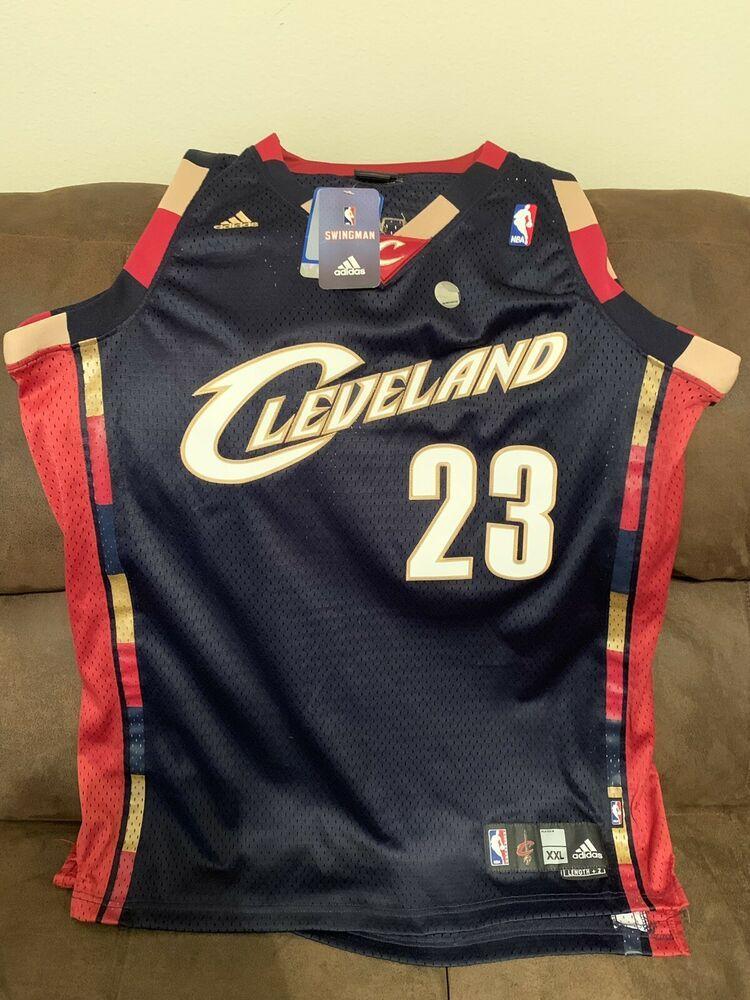 4b407aa370e Lebron James Authentic NBA Cleveland Cavaliers Adidas Swingman Jersey Mens  XXL ( 37 Bids )