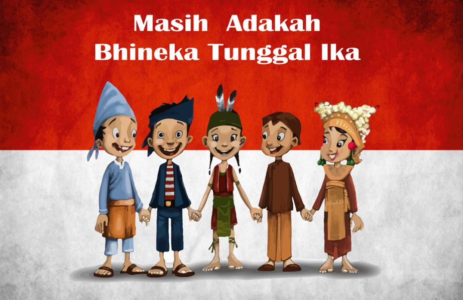 Bhineka Tunggal Ika Rieldwira Blogger Kartun Gambar Pastel Ilustrasi