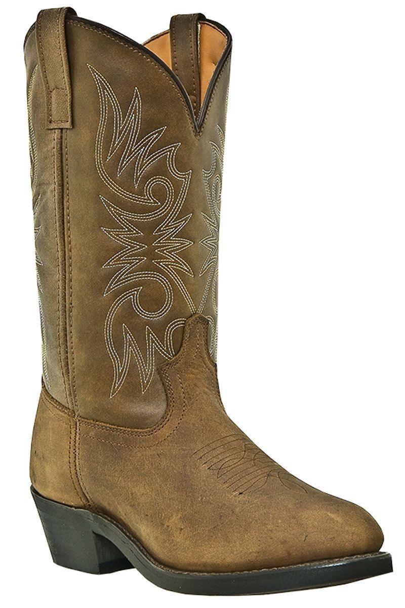 a1c0074ebb9 Laredo Men's Tan Distressed Paris Trucker Cowboy Boots | Laredo ...