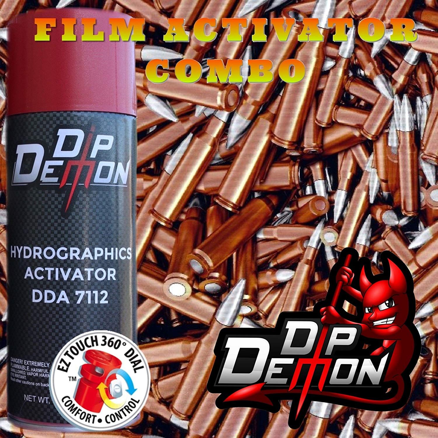 Combo Kit Bullets Hydrographic Water Transfer Film Activator