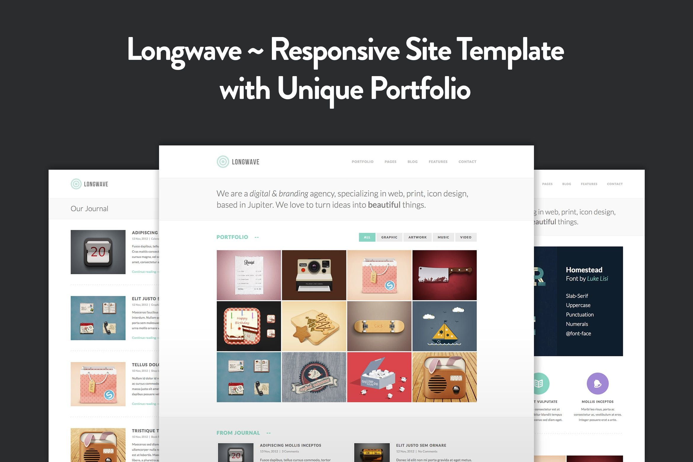 Longwave Responsive HTML Template business, clean,