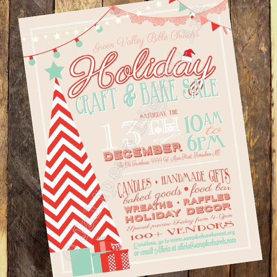 Holiday craft boutique fair show printable flyer poster invitation holiday craft boutique craft fair invitation vendor show flyer christmas market flyer stopboris Images