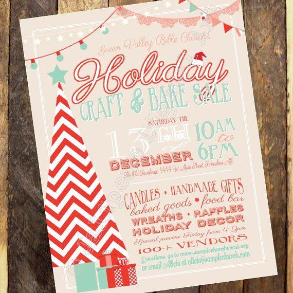 holiday craft boutique craft fair invitation vendor show flyer christmas market flyer