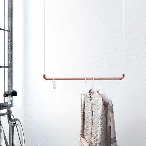 Befestigung Für Kleiderstange die 110 cm lange kupfer kleiderstange des deutschen startups rod