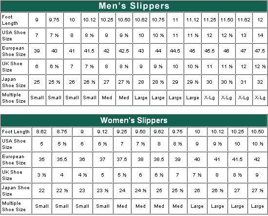 Crochet bootie size chart women   slipper sizing also rh pinterest