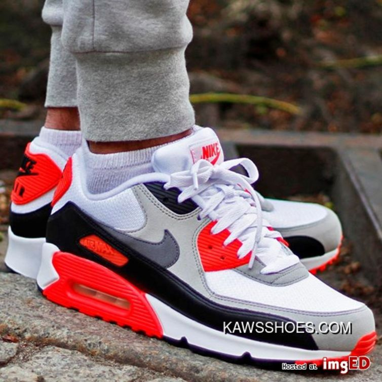 Men Shoes Nike Air Max 90 OG Infrared Retro Zoom All Match