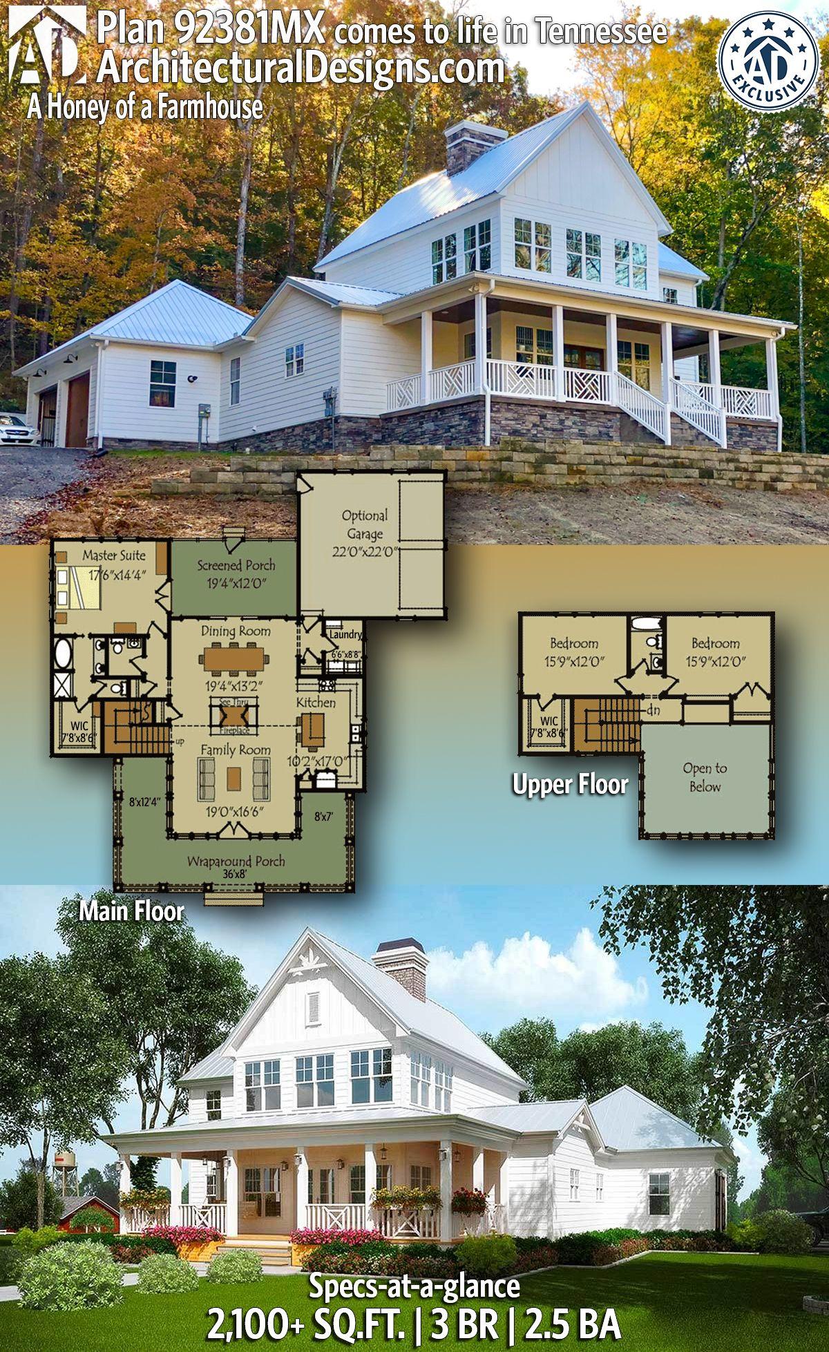 Plan 92381mx A Honey Of A Farmhouse House Plans Farmhouse Farmhouse Plans Dream House Plans