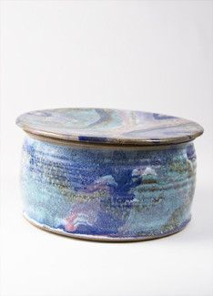 Pottery Rainbow w/ Lid