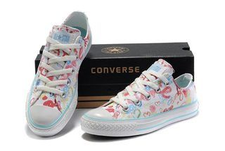 Converse Chuck Taylor All Star True Love Graffiti Low Top White Canvas Shoes   522298  -  50.00   New Converse American and british Flag and converse ... cff2f4f44
