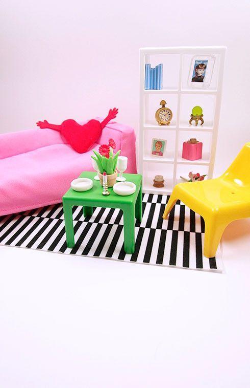 Ikea Klippan Sofa Cover Red Corner Garden Barbie Sized Huset Furniture Set | Sets ...