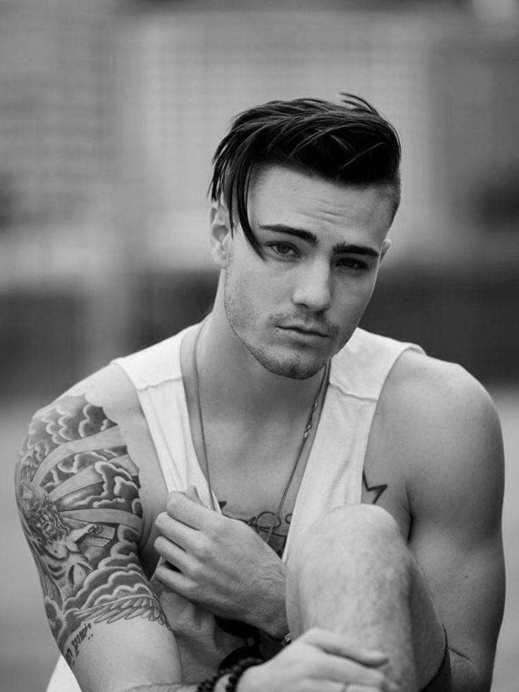 Herren, Frisur, lang oben, rasierte Seiten, natürlich, #