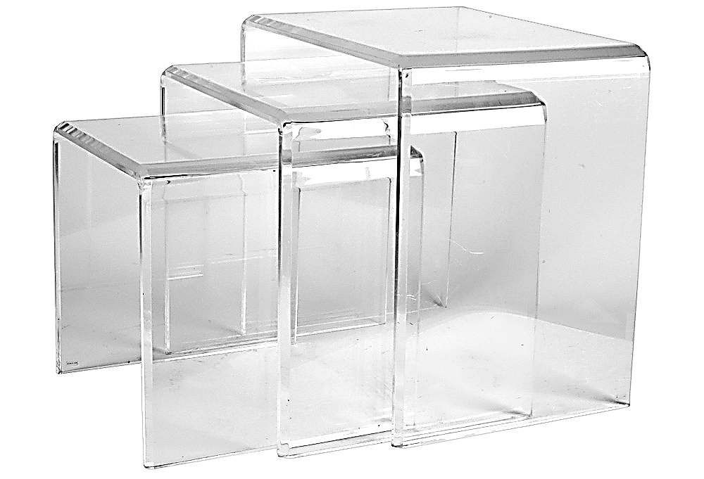 Set Of 3 Lucite Nesting Tables