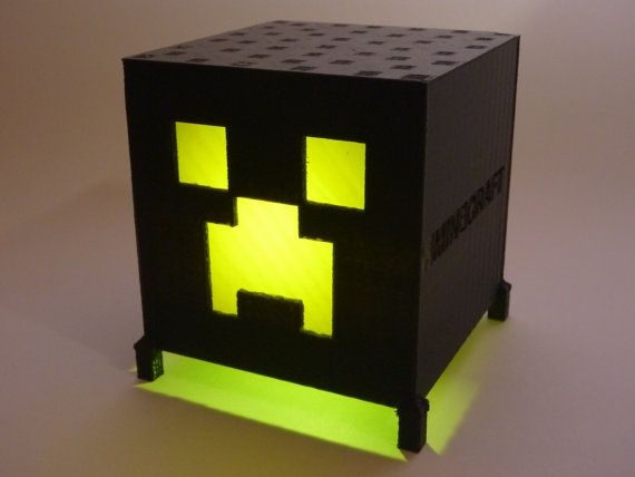 Minecraft Creeper Lamp Light   Minecraft Birthday Party Light Favor, Night  Light