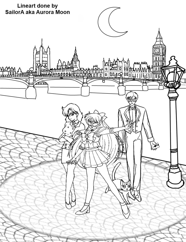 Sailor v sailor v sailor moon coloring pages
