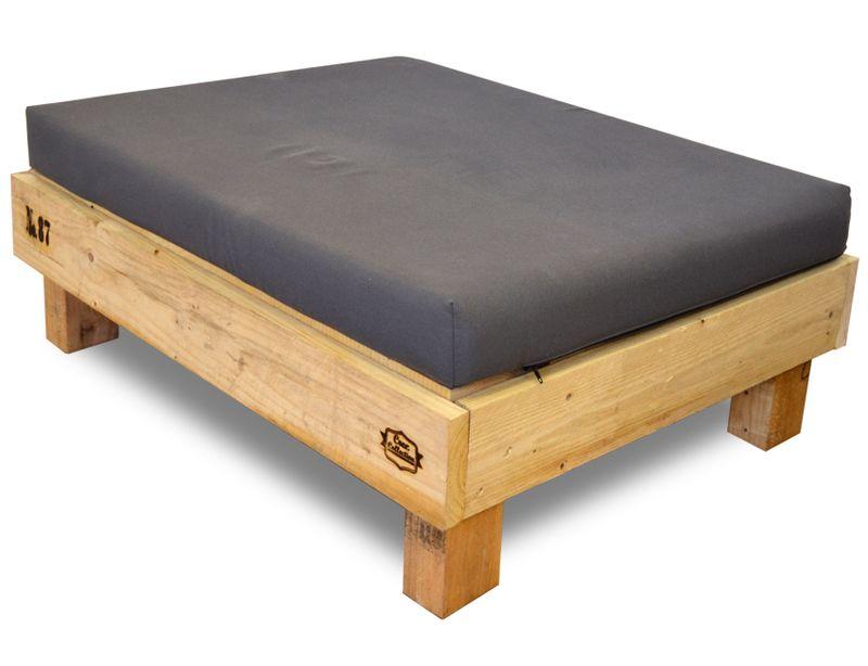 pouf palet para sof en madera 80 x 100 x 38 cm - Palet De Madera