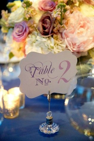 Wedding Table Numbers - Belle The Magazine