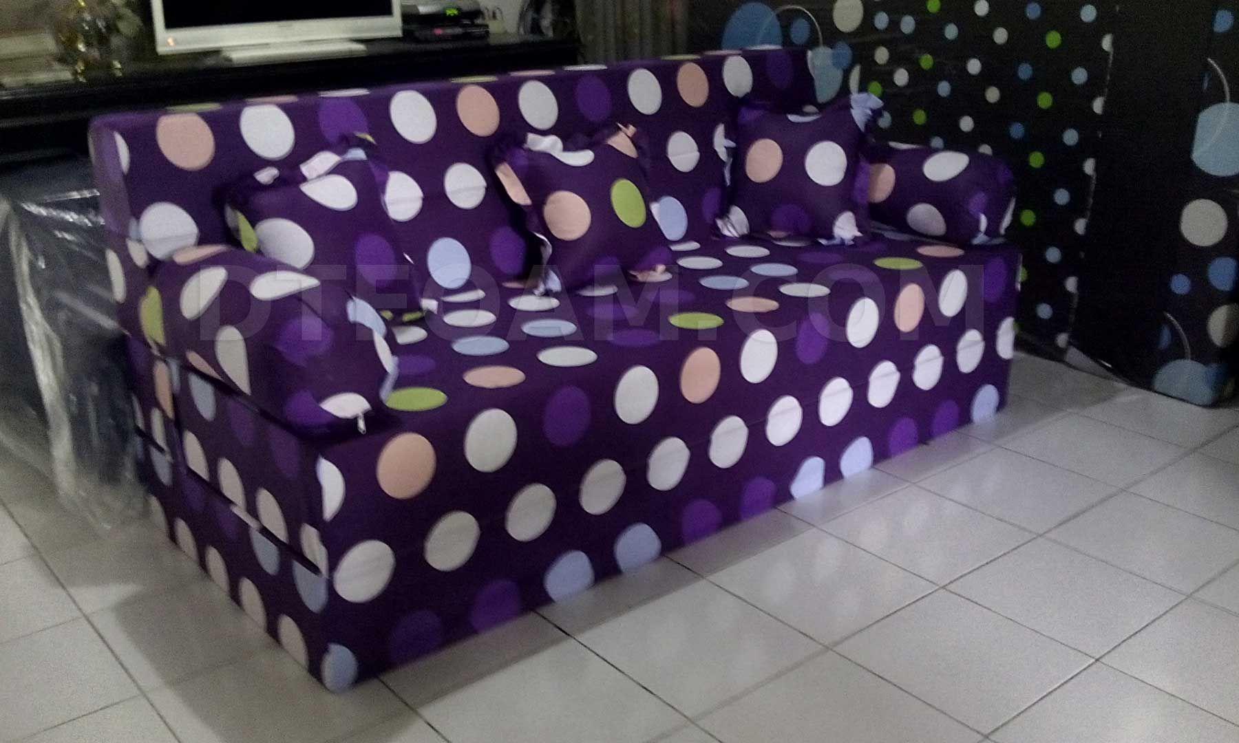 Harga Cover Sofa Bed Inoac 2 Piece Reclining Set P Polkadot Ungu Buble Pilihan Busa Super Aw Awet