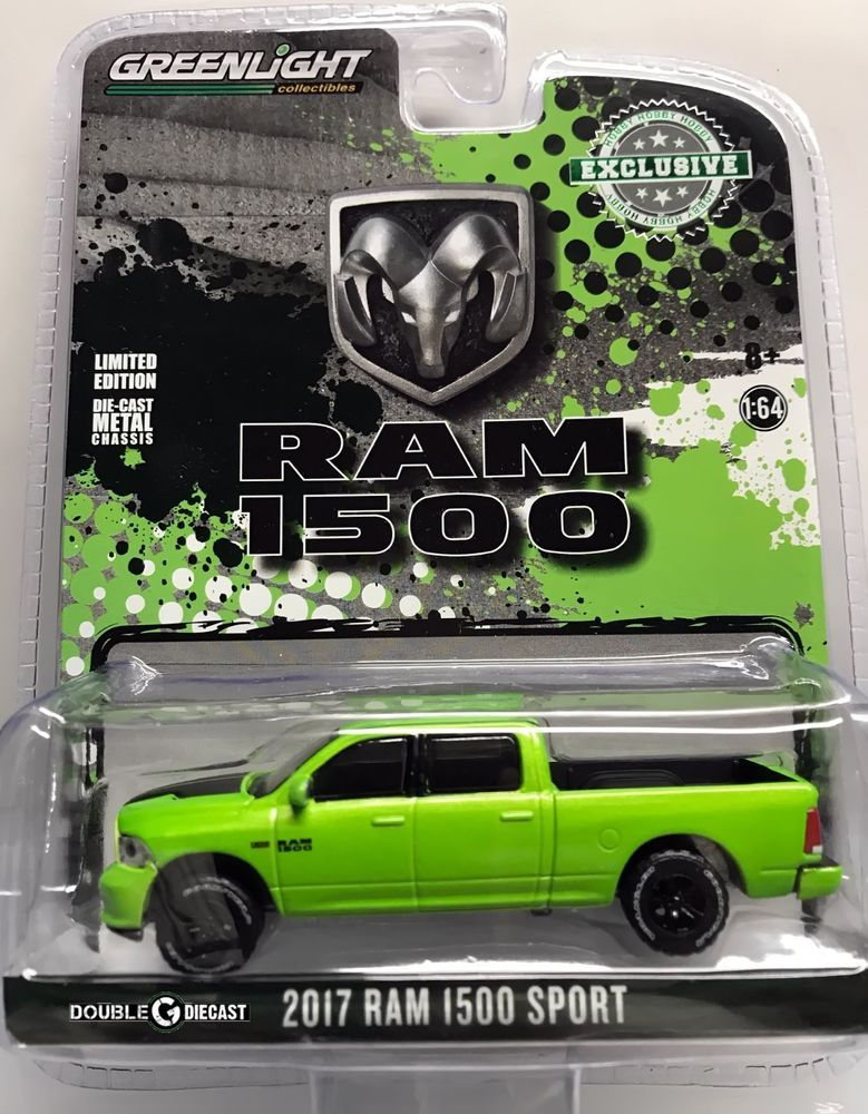 1 64 Greenlight Hobby Exclusive 2017 Dodge Ram 1500 Sport Sublime Green Pearl