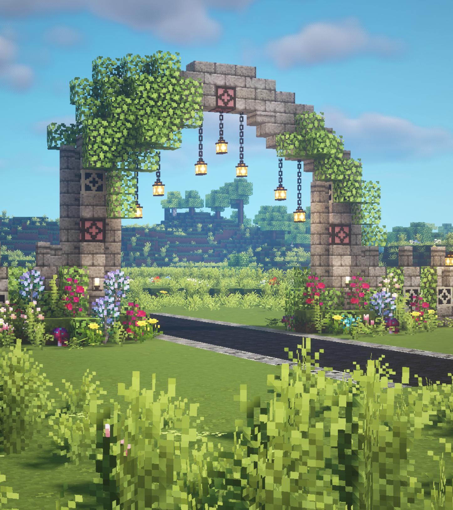 Fairy Arch Aesthetic Minecraft Tutorial 🍄🌿✨ Fairyt