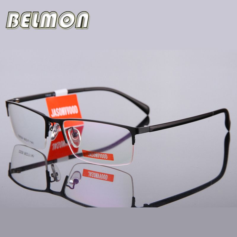 18e536721e2 Spectacle Frame Eyeglasses Men Nerd Silhouette Computer Brand Optical  Myopia Glasses Frame For Male Armacao Oculos de grau RS176