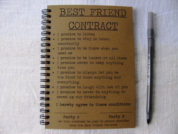 Best friend contract 5 x 7 journal pinterest journal etsy and bff best friend contract 5 x 7 journal by journalingjane on etsy 600 altavistaventures Image collections