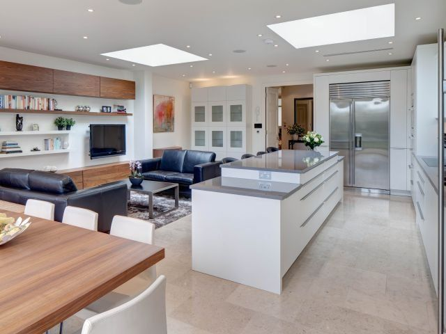 Beautiful Kitchen Set Within An Open Plan Space In A
