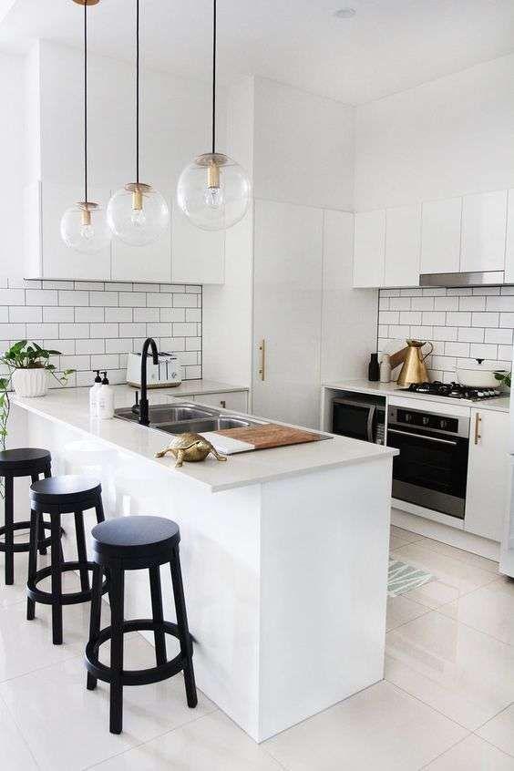 Cocinas blancas El total white en la decoración es tendencia (Foto