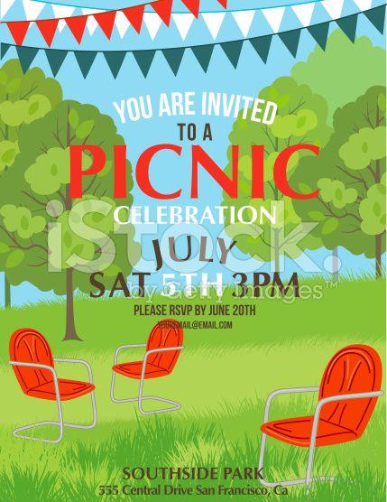 Summer Picnic Party Invitation Template royaltyfree stock vector – Art Party Invitation Templates