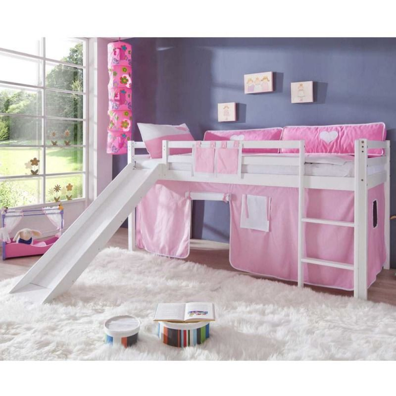 m dchen hochbett in wei rosa rosa kinderzimmer pinterest hochbett bett und kinderzimmer. Black Bedroom Furniture Sets. Home Design Ideas