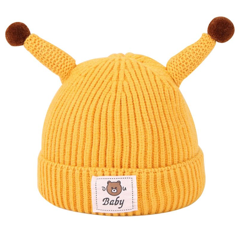 b769f0b3 Knitted Baby Winter Cap Cotton Hat for Newborn Infant Toddler Cotton  Crochet Beanie Boys Girls 0-12 Months,High Quality Hats & Caps
