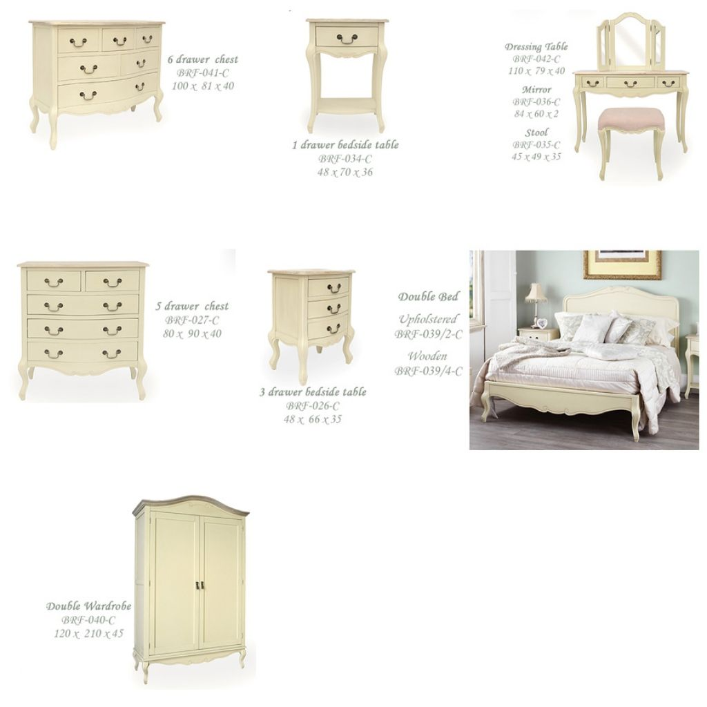 Cream French Style Bedroom Furniture