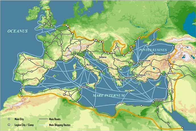 roman transport trade | Roman history, Ancient maps, Roman empire