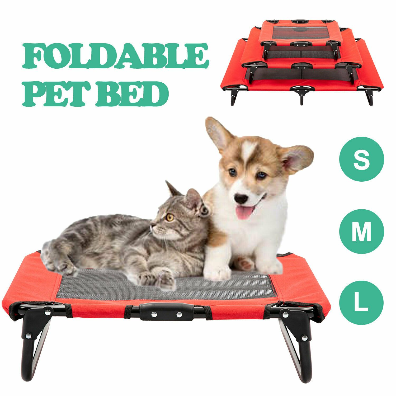 Buy Elevated Pet Bed Dog Cat Cot Portable Raised Cooling Camping