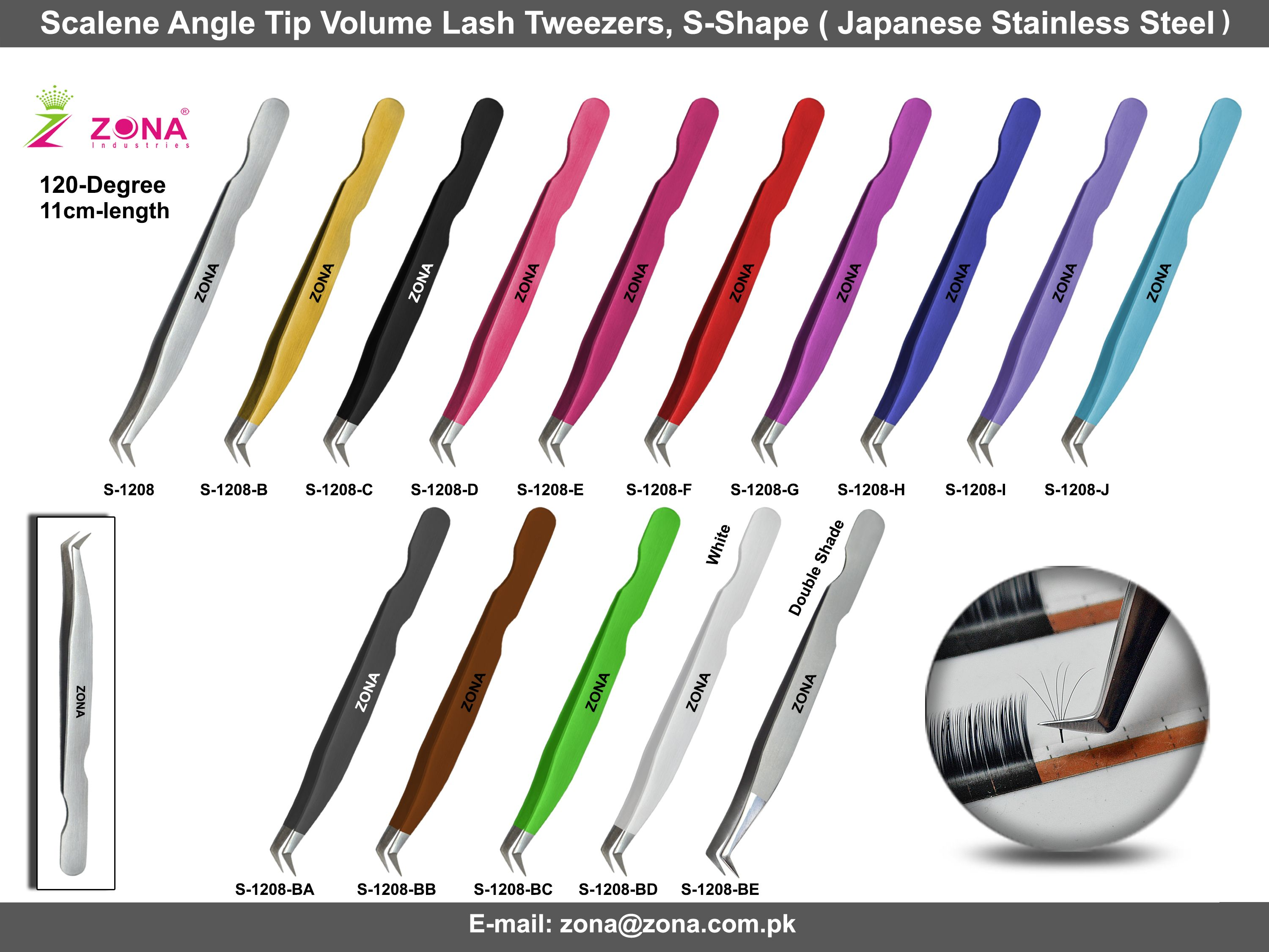 2633ede775b Manufacture and suppliers of eyelash extension tweezers and volume lash  tweezers from ZONA PAKISTAN