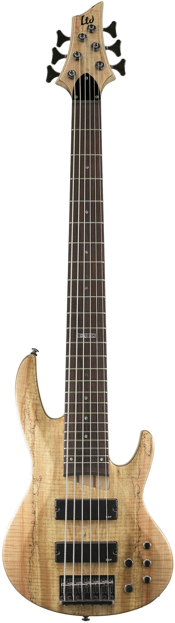 ESP LTD B-206 6-String Spalted Maple Bass . natural wood basses are so beautiful