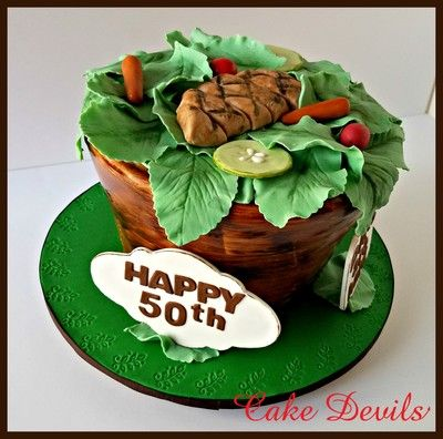 Magnificent Salad Cake Diet Cake Cake For Someone On A Diet 50Th Birthday Funny Birthday Cards Online Hendilapandamsfinfo