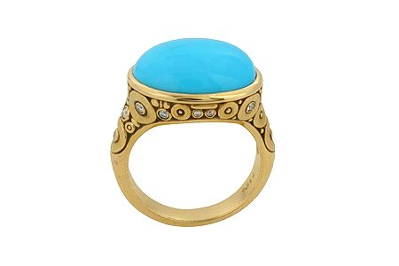 Love the gold/turquoise beachiness happening here.