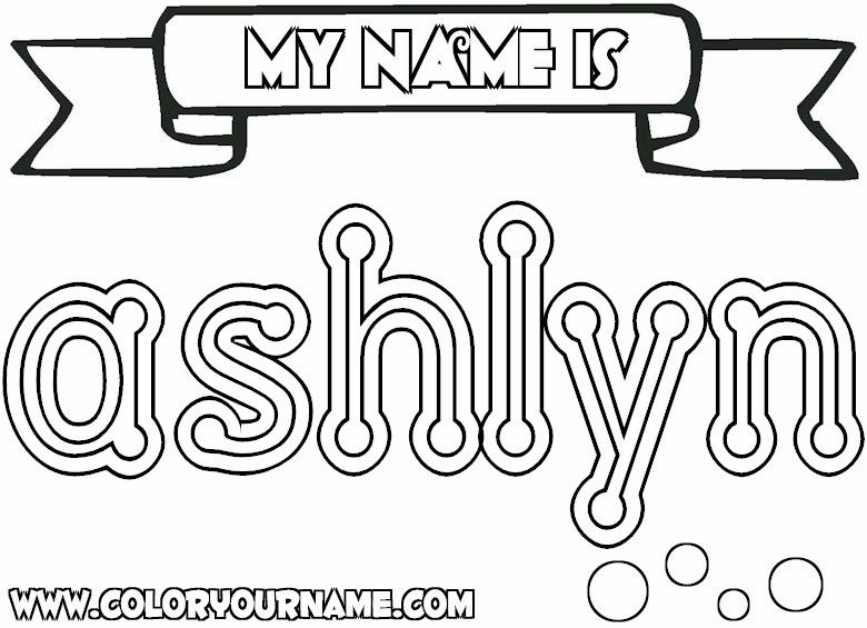 the name Ashlynn images | Click to Print Name Coloring Page Only ...