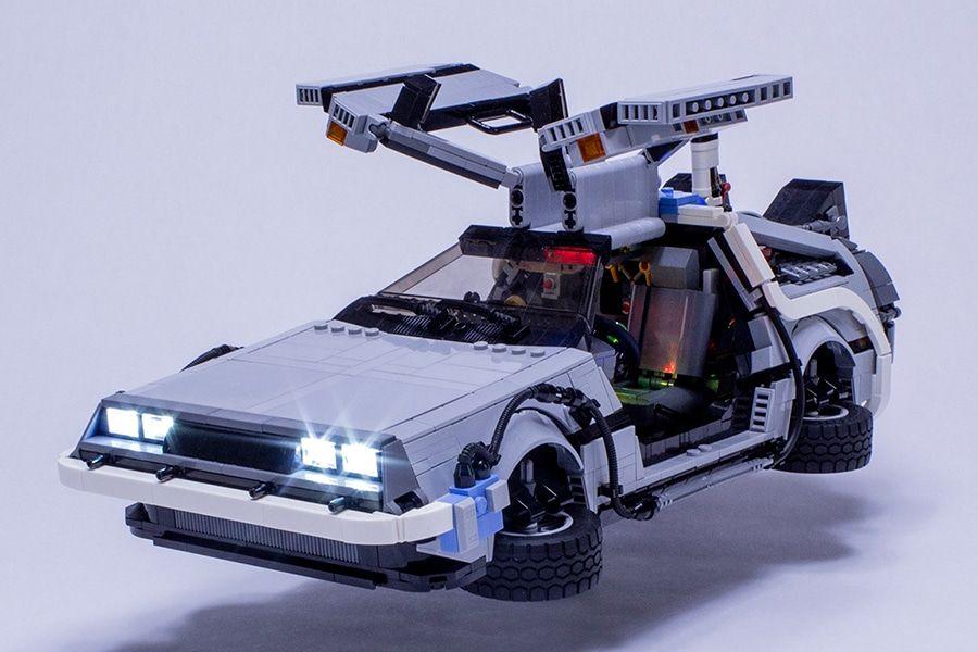 Lego Delorean Time Machine Includes Flux Capacitor Man Of Many Delorean Time Machine Lego Machines Delorean