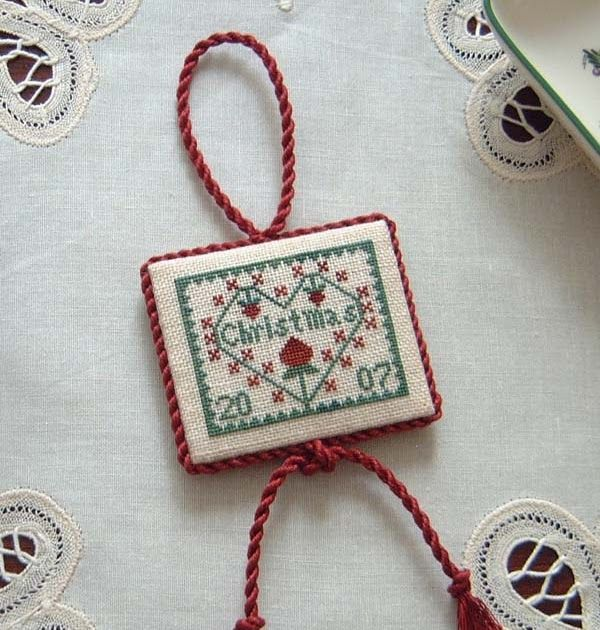 stitch just carol christmas ornament - Cross Stitch Christmas Decorations
