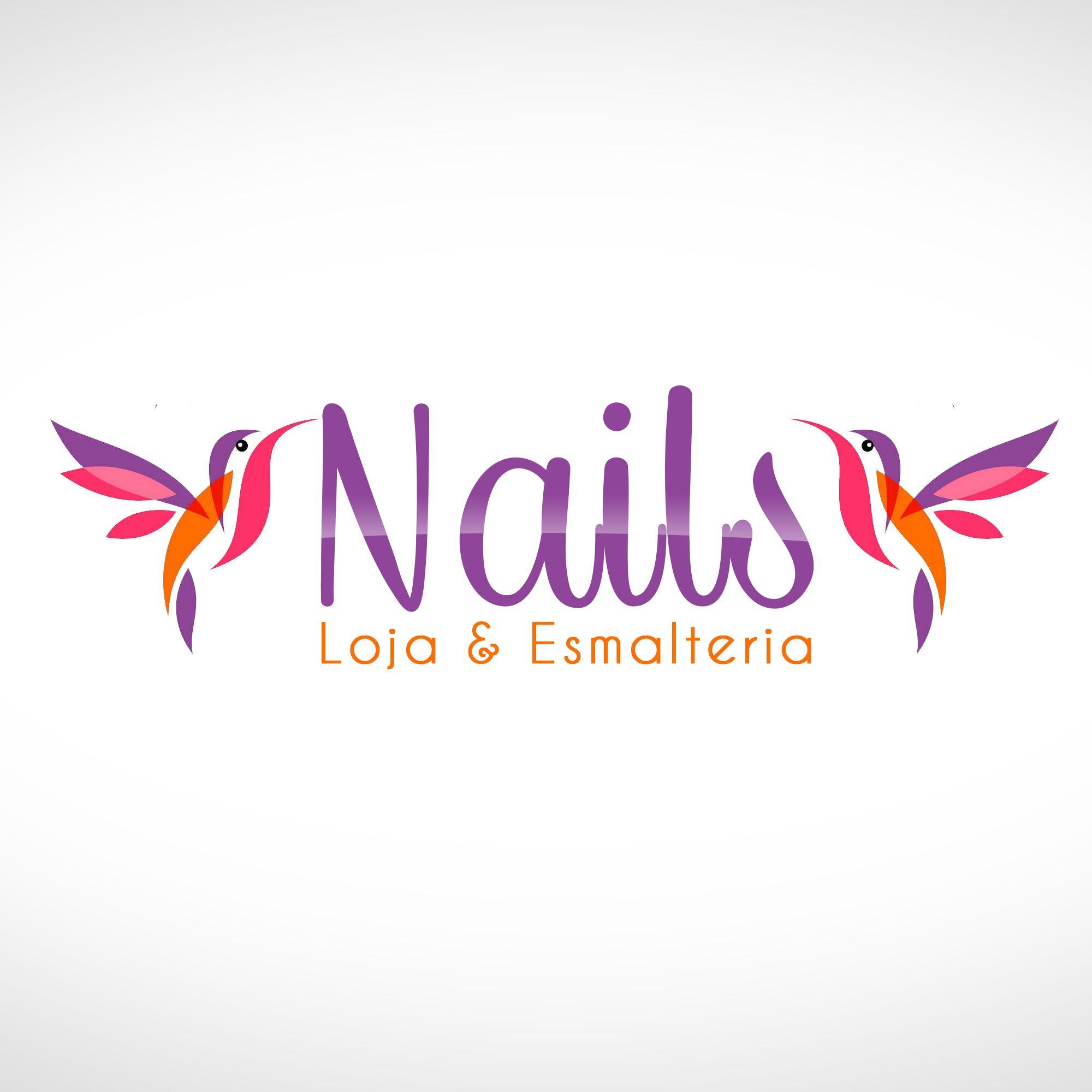 Nails Logotipo Logotipo, Esmalterias