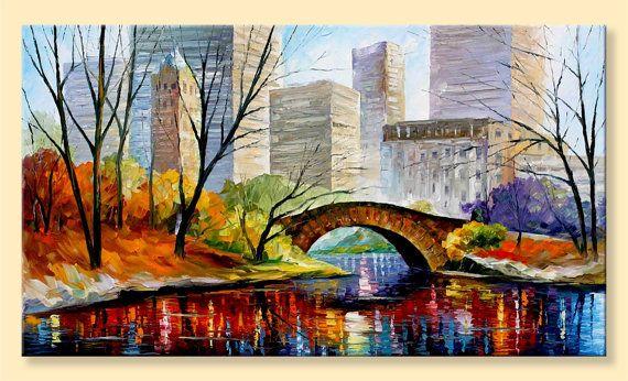 Central Park New York  Limited Edition Autumn by AfremovArtStudio